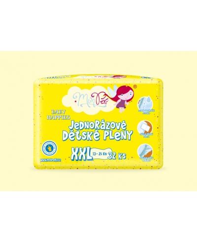 Ekologické jednorazové detské plienky XXL 13-25kg MonPeri