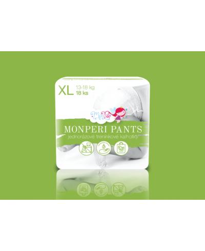 Ekologické jednorazové plienkové nohavičky XL 13-18kg MonPeri