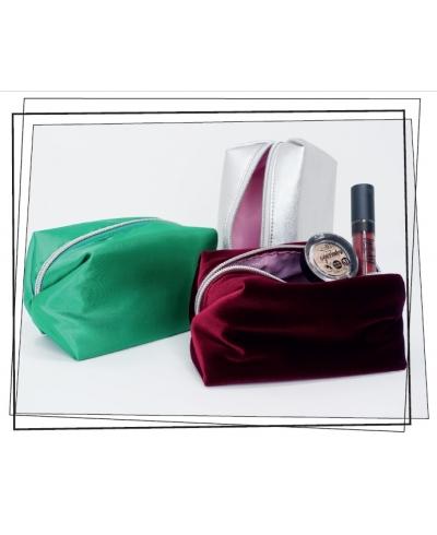 Kozmetická taštička Luxury - strieborná puroBIO