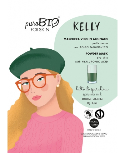 Alginátová maska na suchú pleť KELLY - spirulina milk PuroBIO