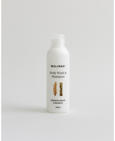 Sprchové sérum na telo & vlasovú pokožku - Cédrové drevo a škorica Malinna