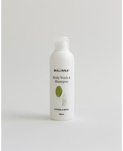 Sprchové sérum na telo & vlasovú pokožku - Citrón a mäta Malinna