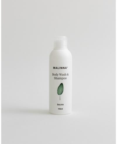 Sprchové sérum na telo & vlasovú pokožku - Šalvia Malinna