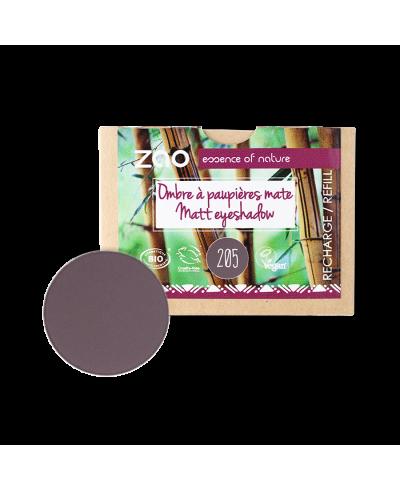 Matný očný tieň 205 Dark Purple - náplň ZAO