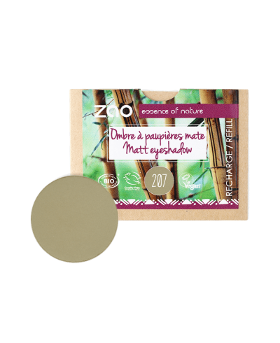 Matný očný tieň 207 Green Olive - náplň ZAO