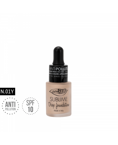 Tekutý make-up Drop foundation 01Y puroBIO