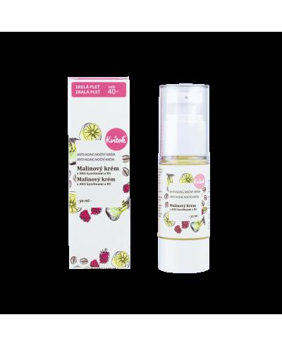 Nočný Anti-Aging malinový krém (40+) Kvitok