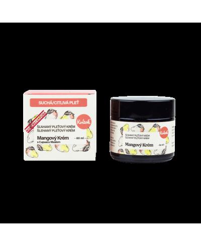 Mangový krém pre suchú a citlivú pokožku Kvitok
