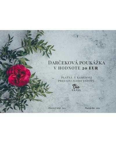 Darčeková poukážka v hodnote 20€ Biokrása