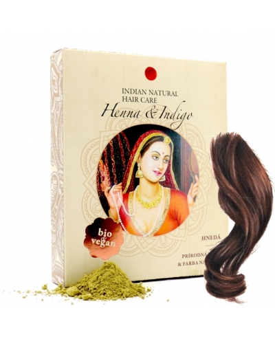 Henna & Indigo - tmavá hnedá Indian Natural Hair Care