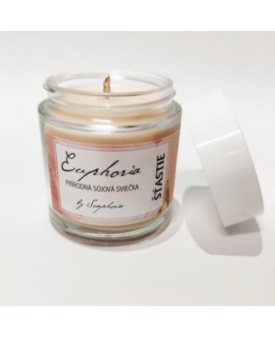 Šťastie - ručne odlievaná sójová sviečka