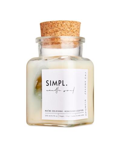 Sviečka SIMPL -  Opuncia a zelený čaj