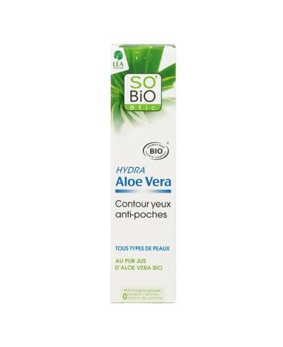 Očný gél proti opuchnutiam s Aloe vera