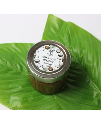 Kokosový peeling s kofeínom