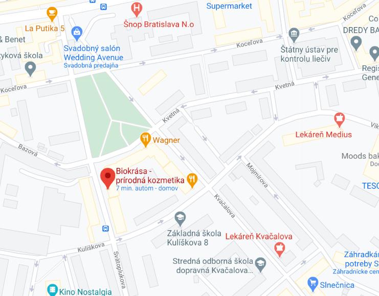 Adresa predajne: Svätoplukova 28, Bratislava